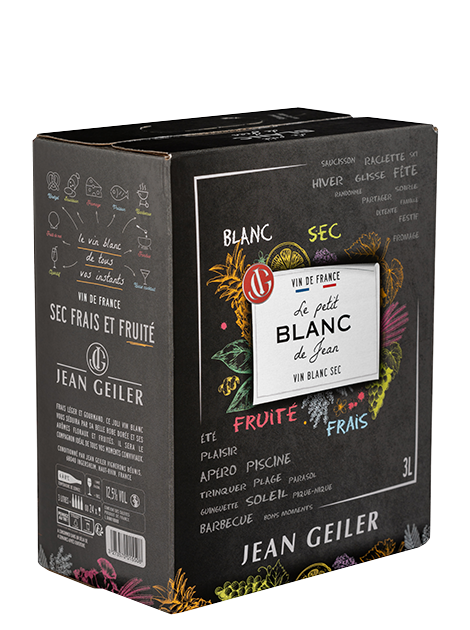 Le Petit Blanc de Jean - BIB 3L Vin de France
